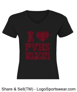 Women's Fitted Shirt Black Design Zoom